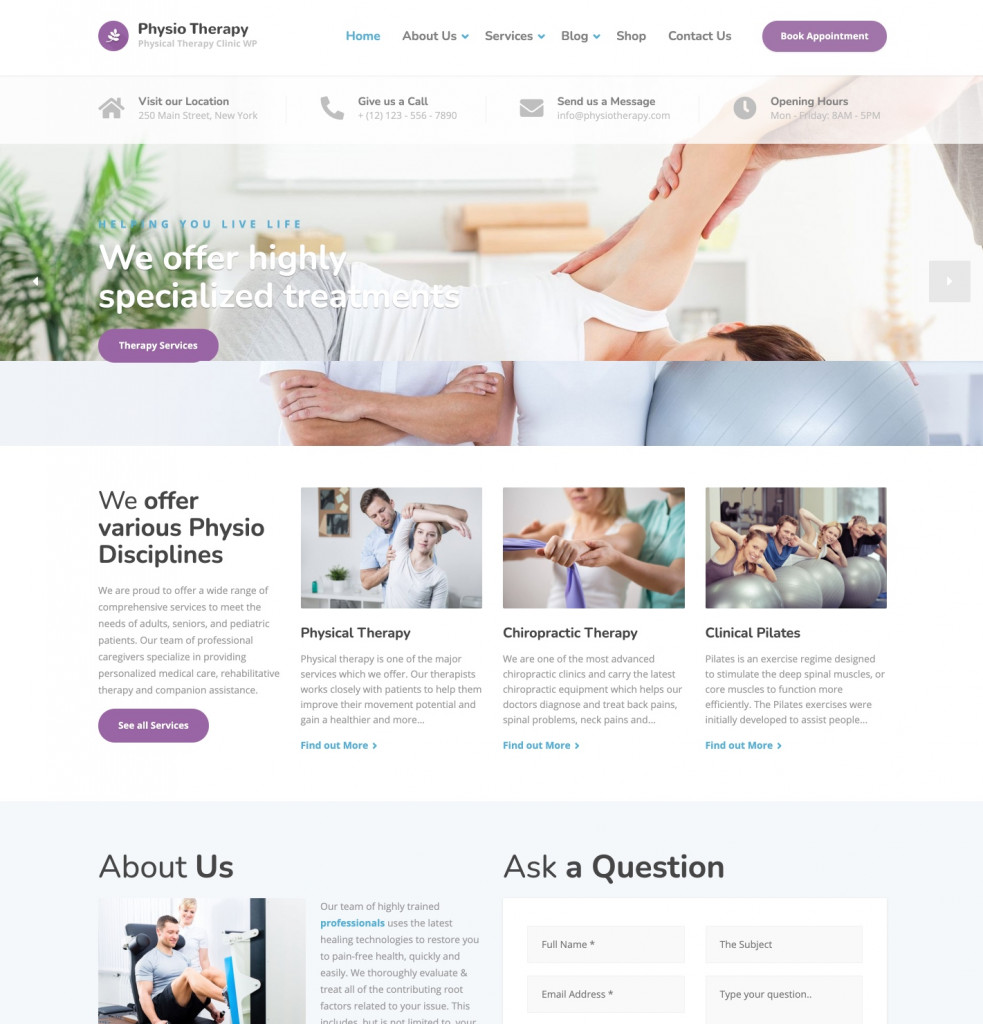 Physio - Medical Website Design Template