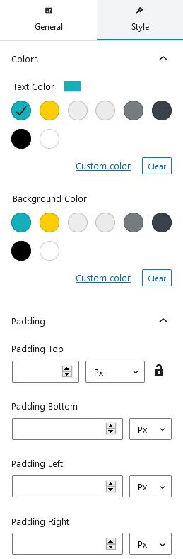 getwid settings panel