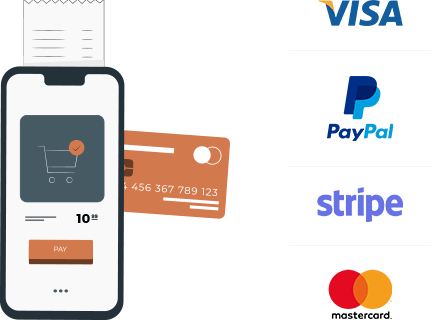 PayPal, Cash on Delivery, Direct Bank Transfer
