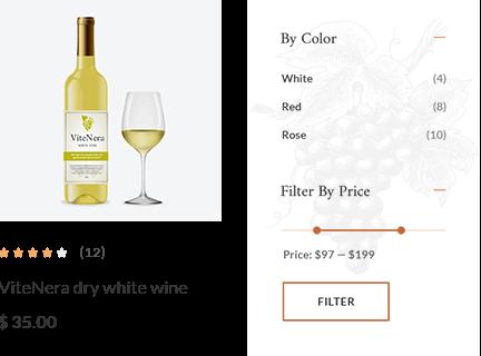 WordPress Wine Theme Product Sorting & Filtering