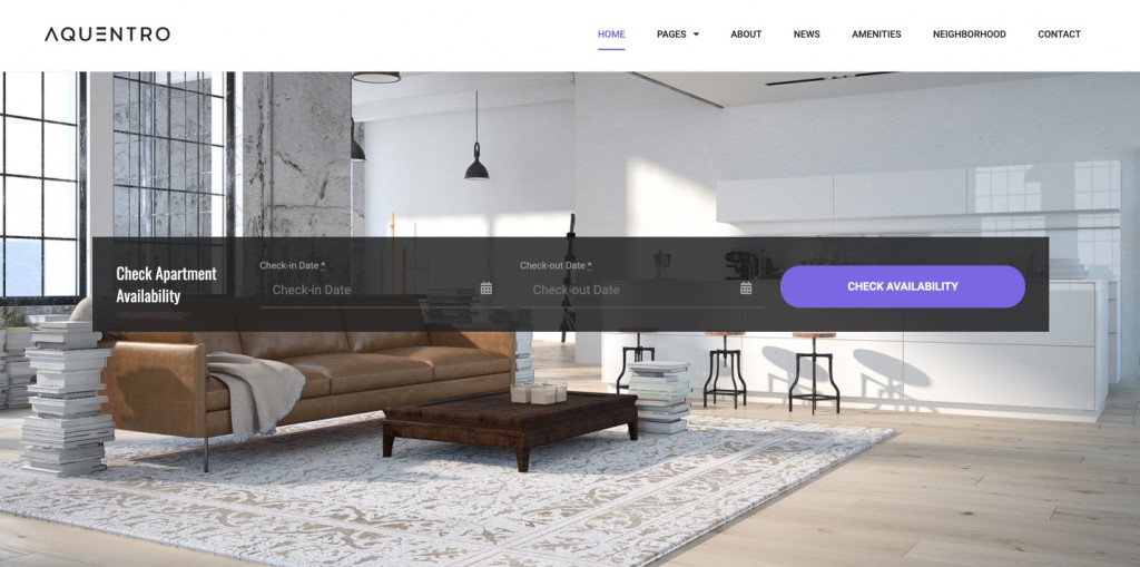 Aquentro - Single Property Website Template