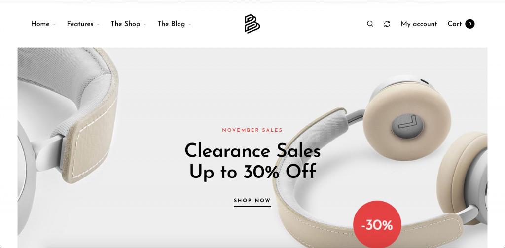 Modern WooCommerce WordPress Theme for Small Business