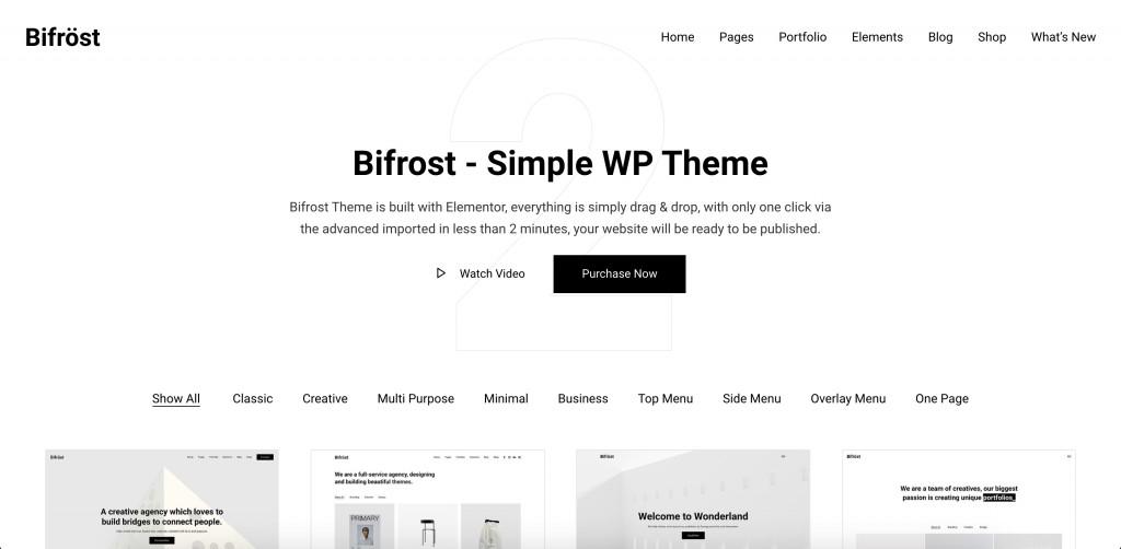 Simple Elementor WordPress Theme