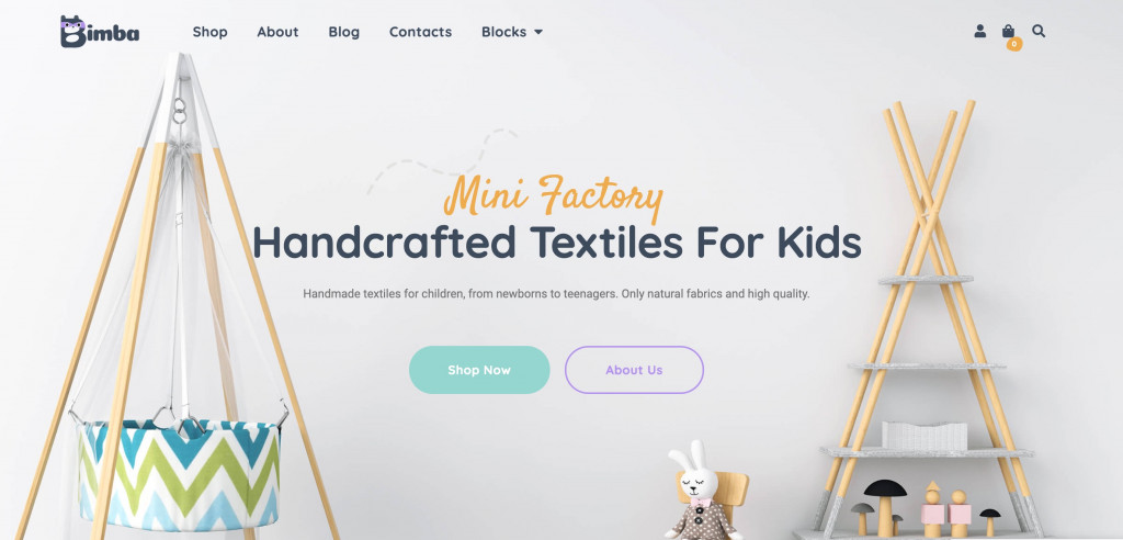 WooCommerce WordPress theme for Small Business