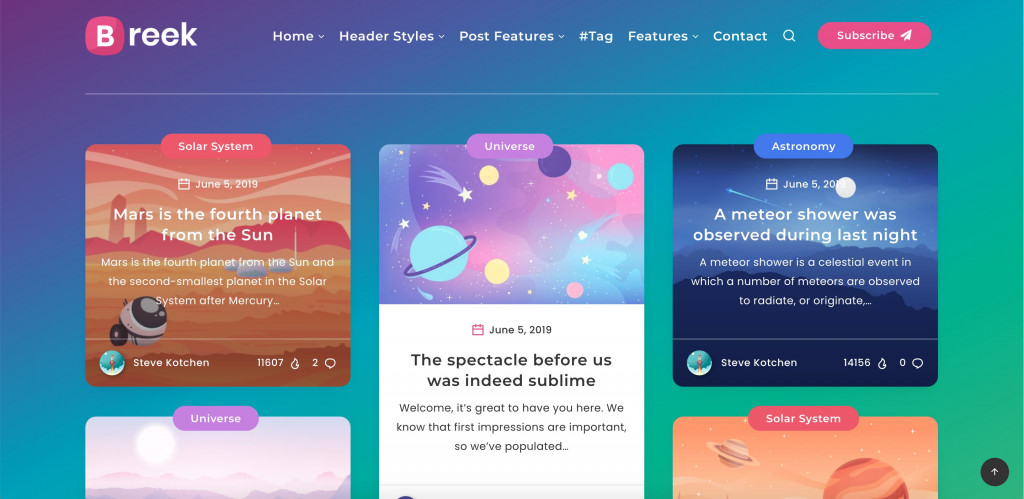 Minimal Masonry Theme for WordPress