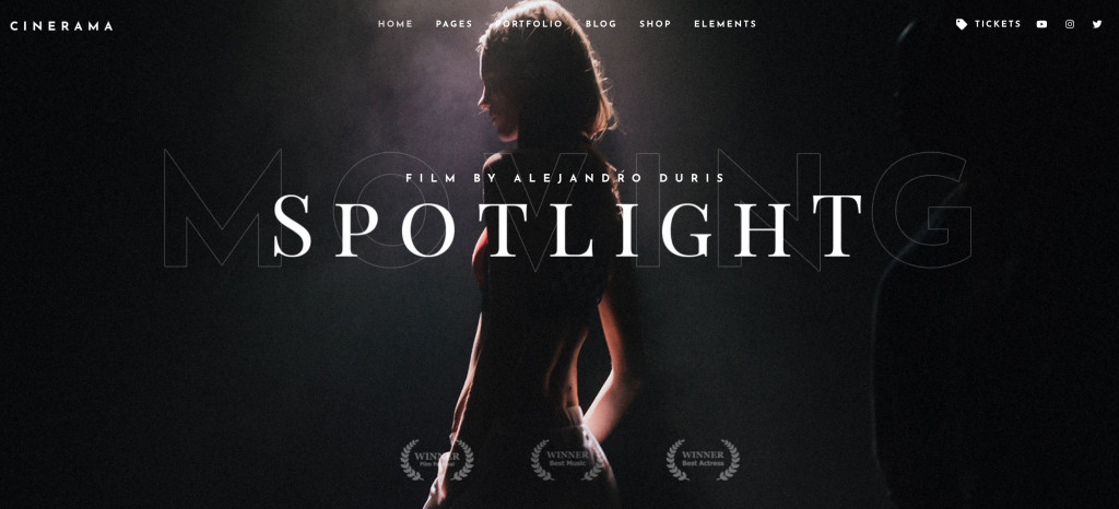 WordPress Theme for Movie Studios and Filmmakers