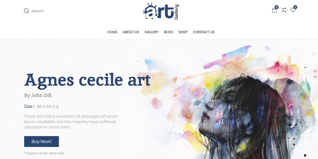 Art Gallery WooCommerce WordPress Theme