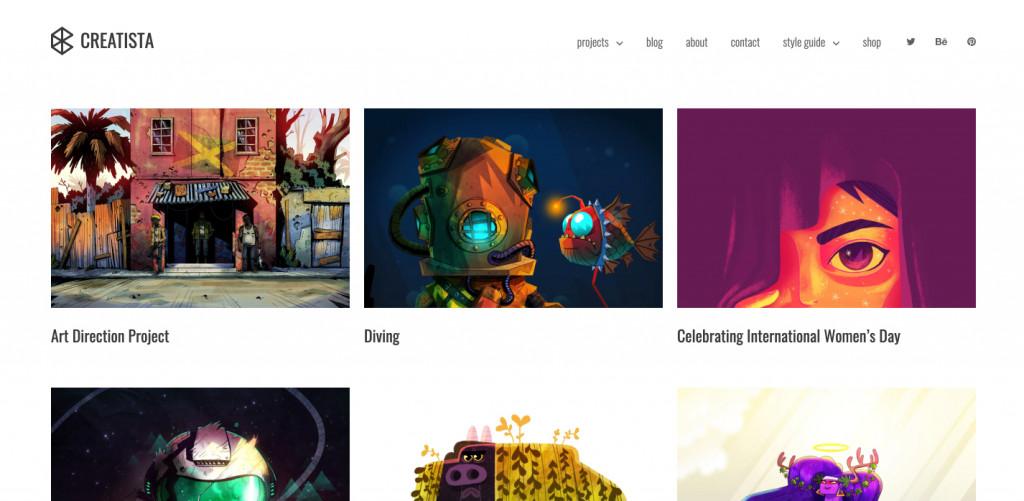 Wordpress Theme for Artist Website