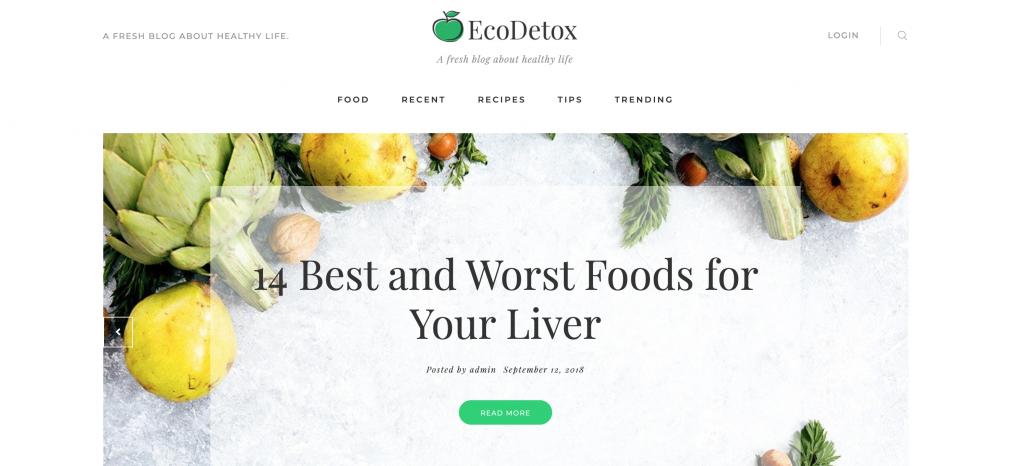 EcoDex - Healthy Lifestyle WordPress Theme