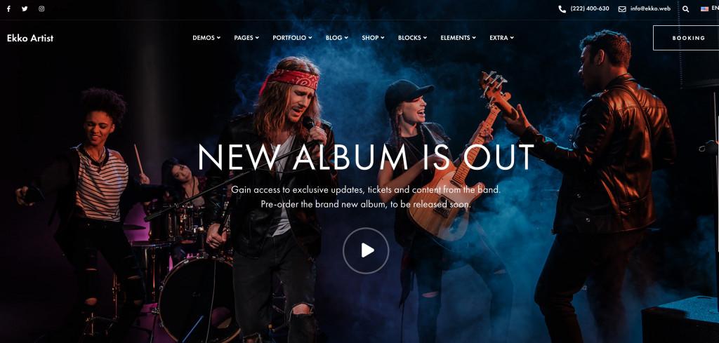 WordPress Theme for Musicians