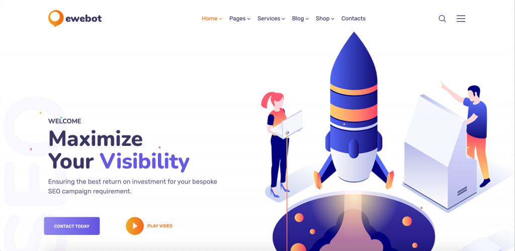 Digital Agency WordPress theme for SEO