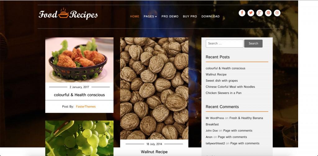 Food Recipes - Responsive WordPress Theme