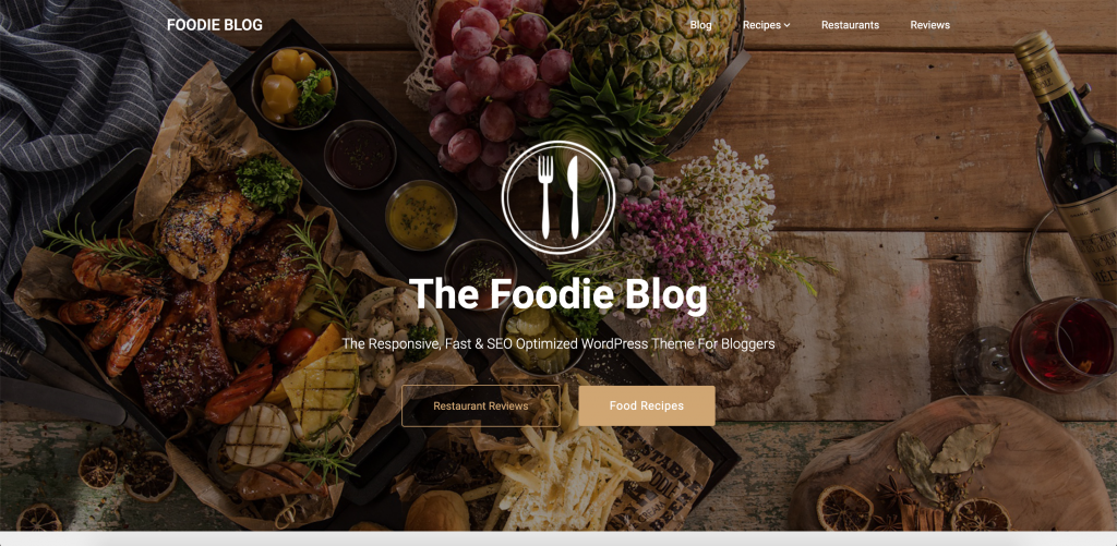 Foodie Blog - Culinary WordPress Theme