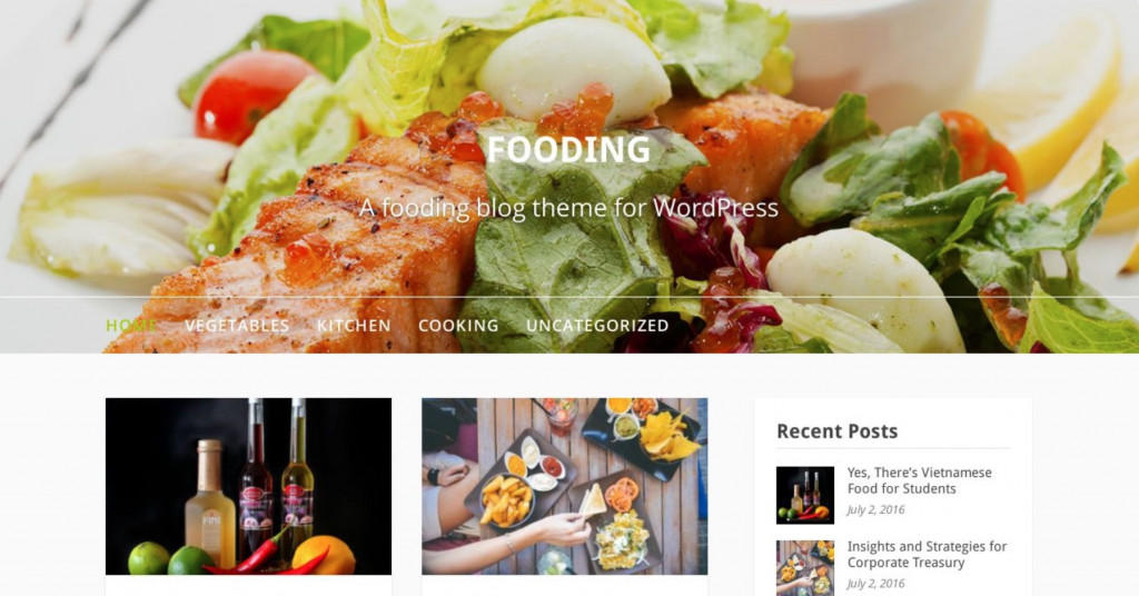 Fooding - Recipe Website WordPress Template