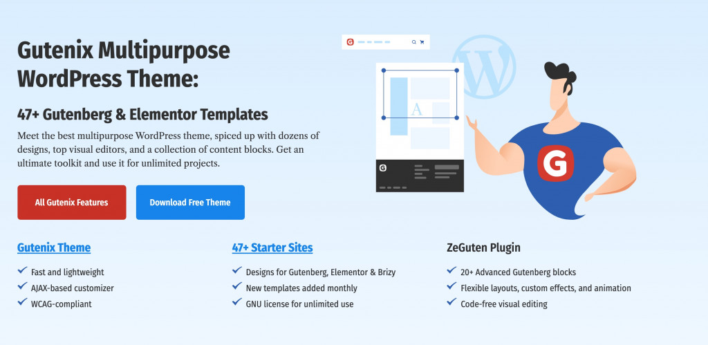 Multipurpose WordPress theme for small business