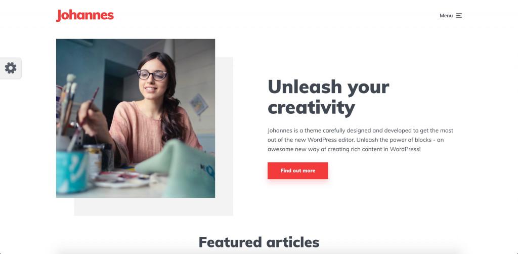 Personal Blog Minimalistic Theme for WordPress