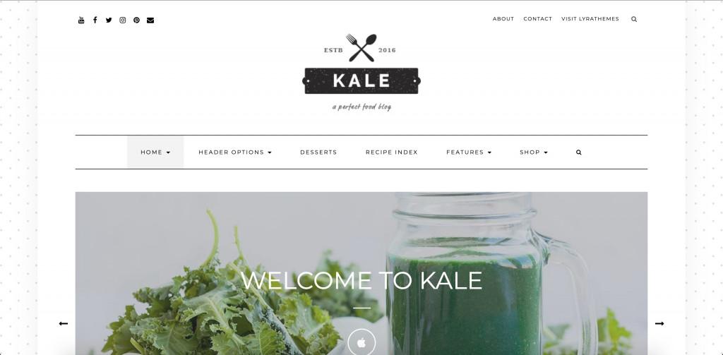 Kale Pro - Healthy Food WordPress Theme