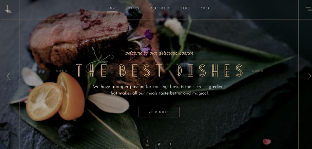 Laurent Restaurant WordPress Theme for Business
