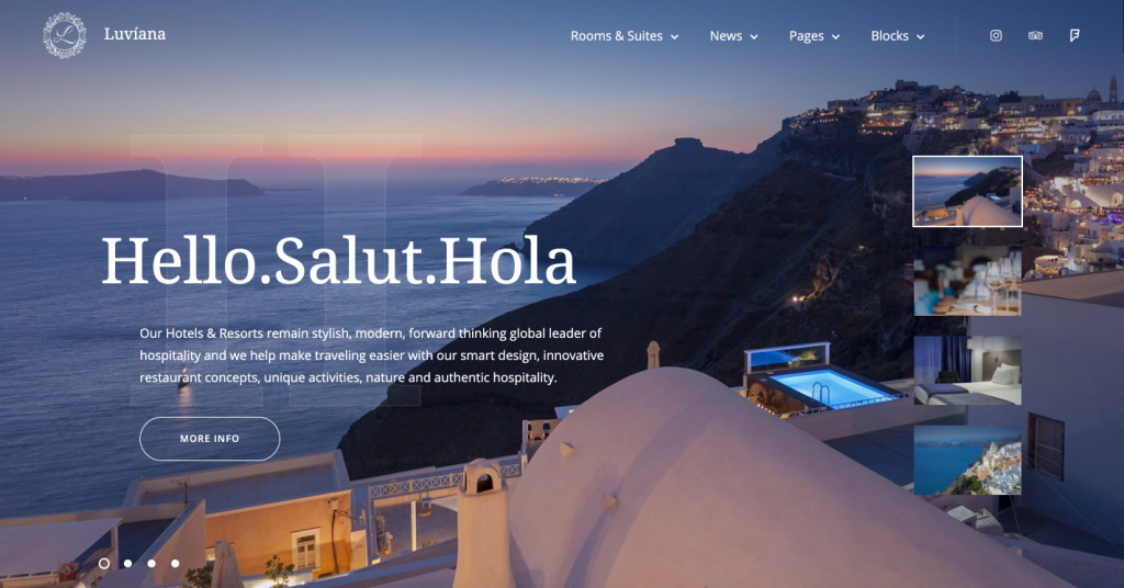 Hotel WordPress theme for SEO
