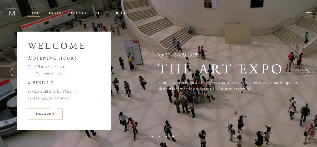 Art Gallery and Museum Theme