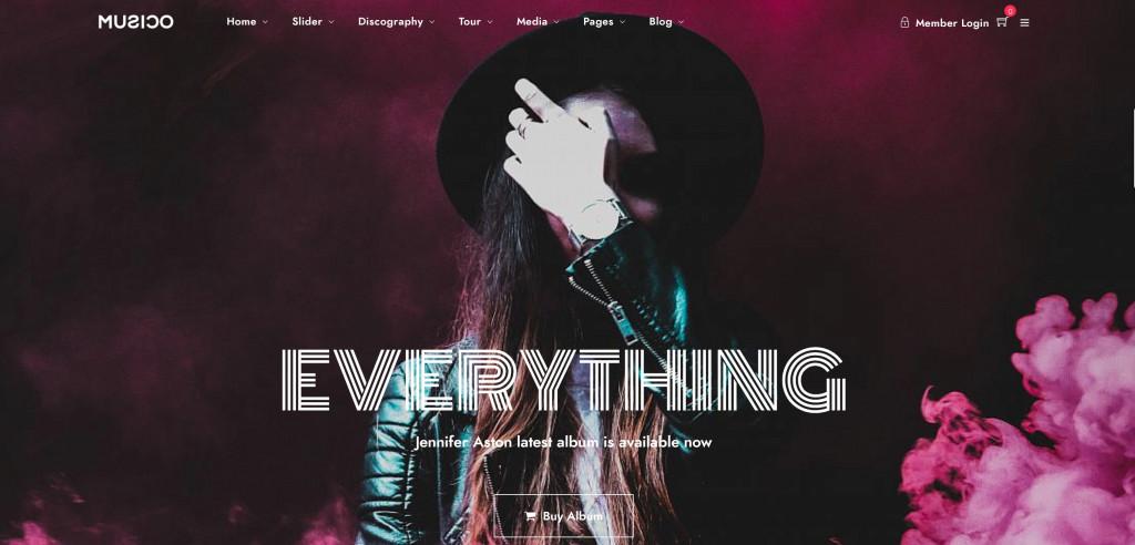 Music WordPress Theme for Artists