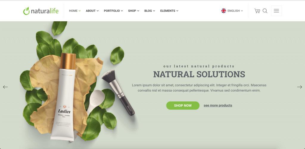 Health & Organic WordPress Theme