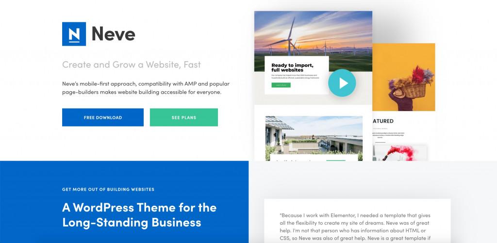 Neve free WordPresss theme