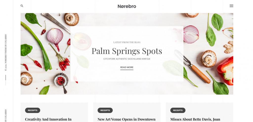 Norebro - Creative Food Blog for WordPress