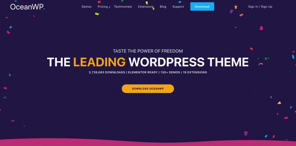 Ocean WP free WordPRess theme
