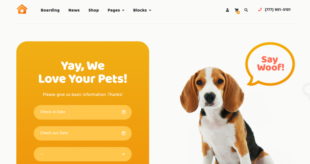 Petotel - Pet Sitting WordPress theme for business