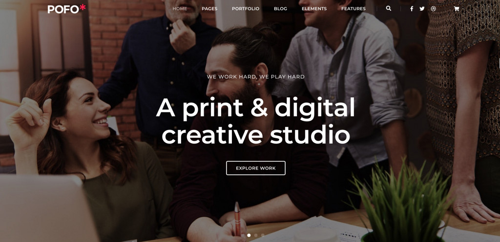 Creative Portfolio WordPress theme for SEO