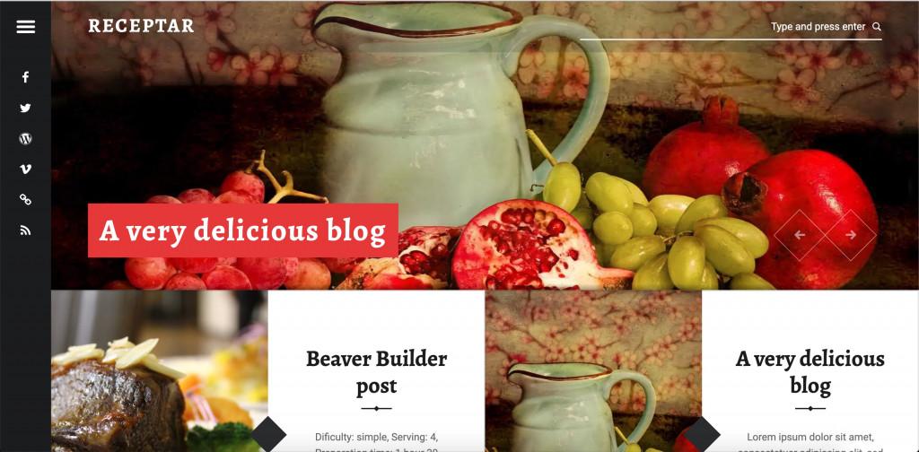 Receptar - Simple Food Blog Theme for WordPress