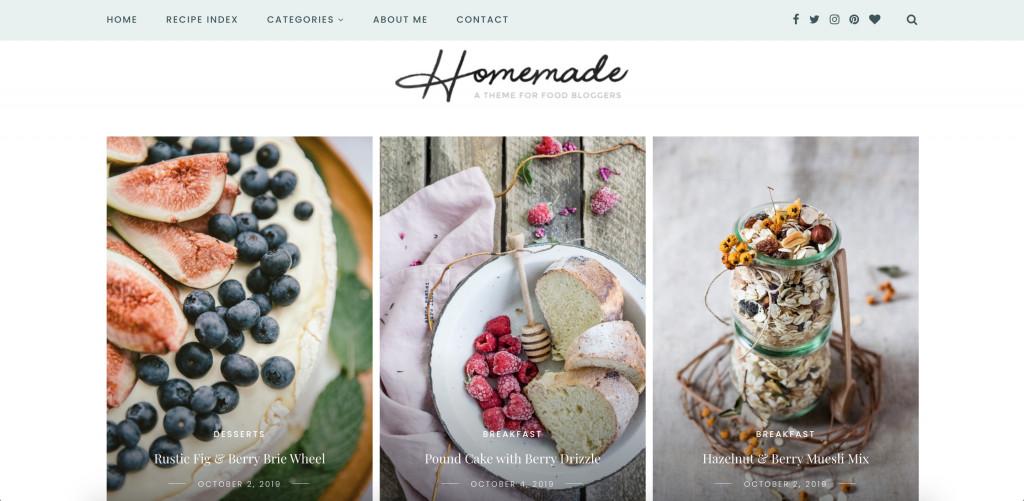 Sitka - Modern WordPress Food Blog Theme