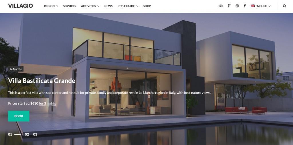 Villagio Property Rental WordPress Theme