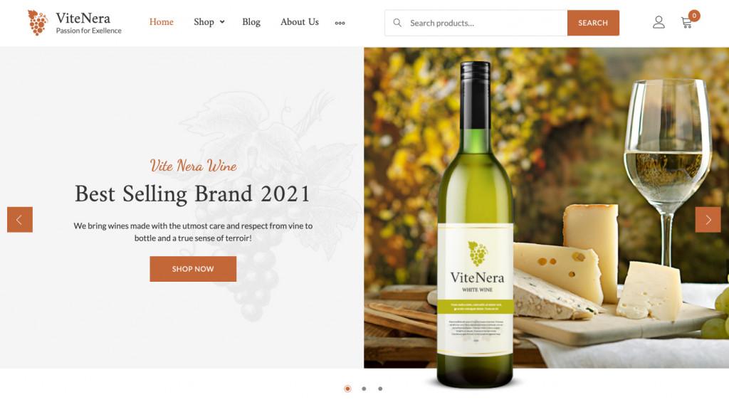 Wine Minimalist WP Theme