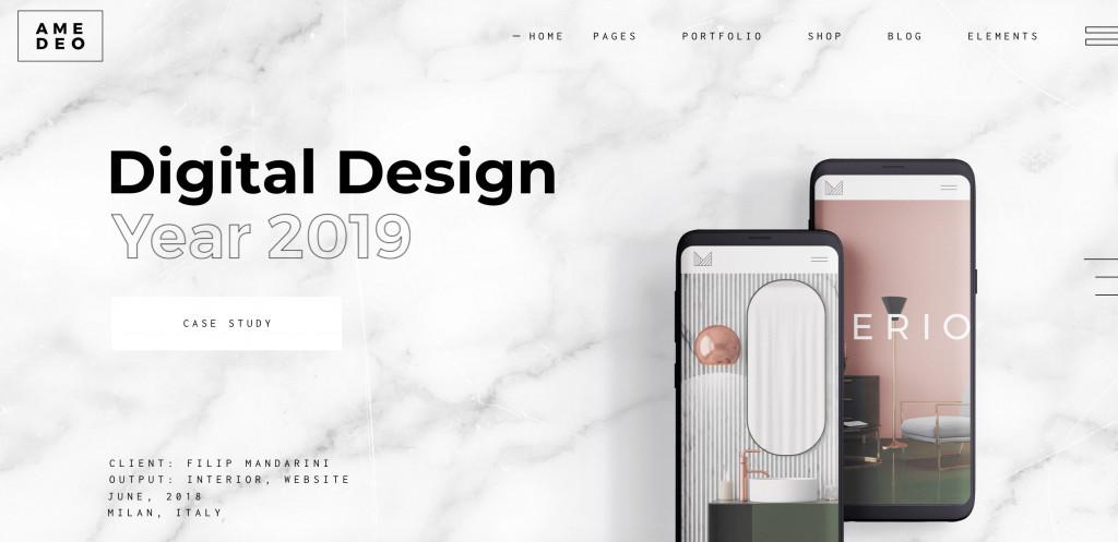 Multi-concept WordPress Theme for designers