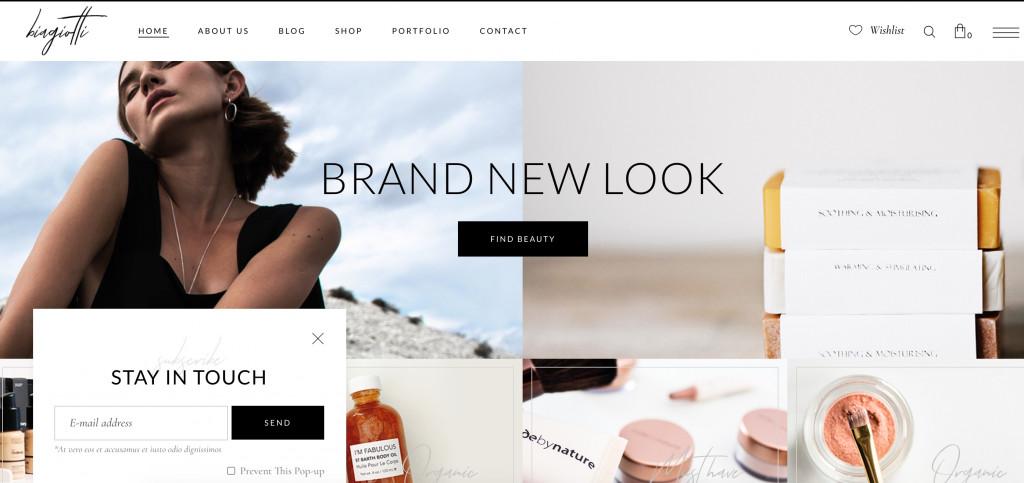 best WordPress theme for online cosmetics store