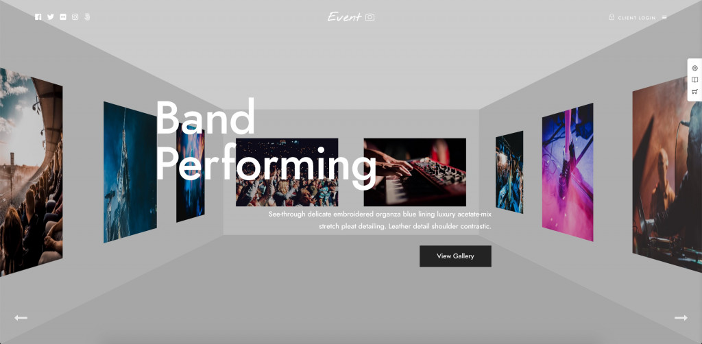 Template for Photography WordPress