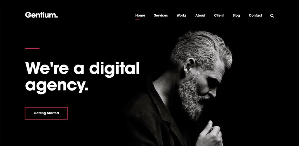 Creative Agency WordPress Theme for designers