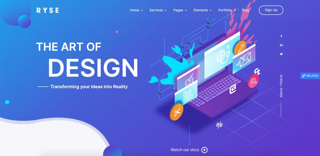 SEO WordPress theme for designers