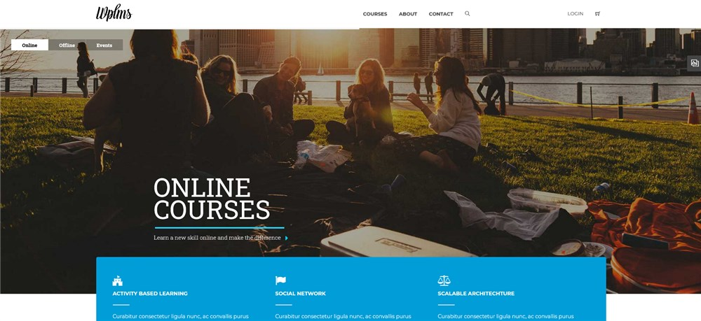 WPLMS Learning Management System for WordPress, Education Theme Preview