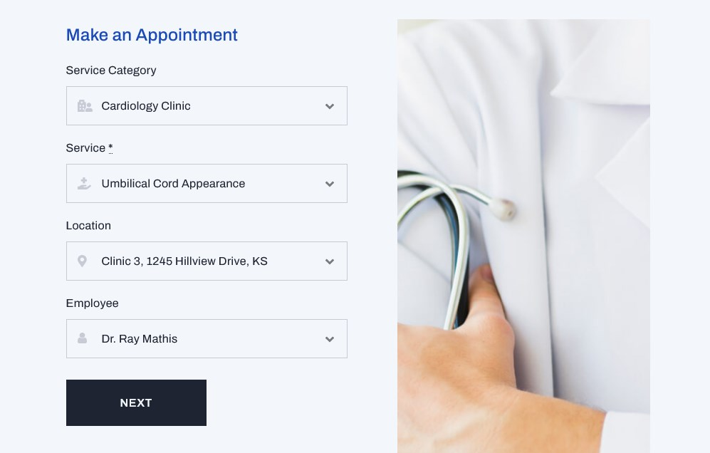 appointment form wordpress filters