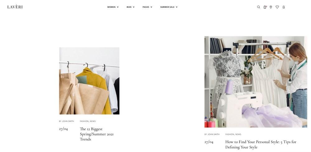 creative blog layout laveri