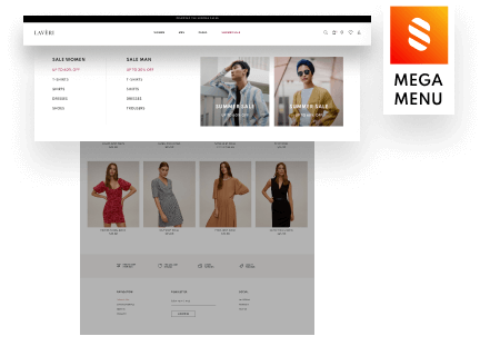 Stratum Mega Menu for Content-rich Store Menus (save $29)