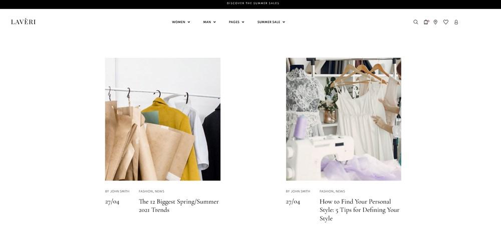 modern blog layout