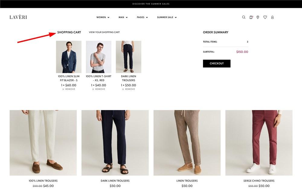 shopping cart laveri wp clothing store theme