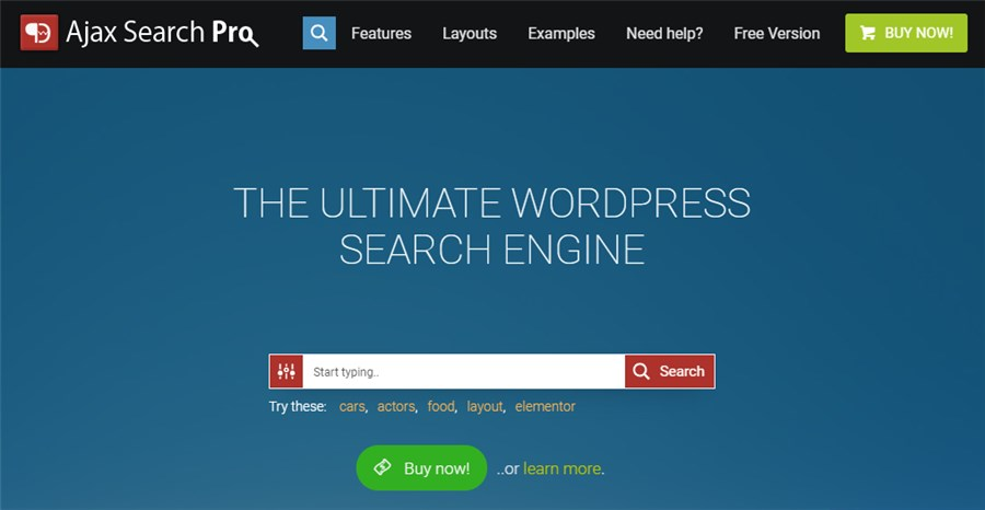 Ajax Search Pro business plugin for WP