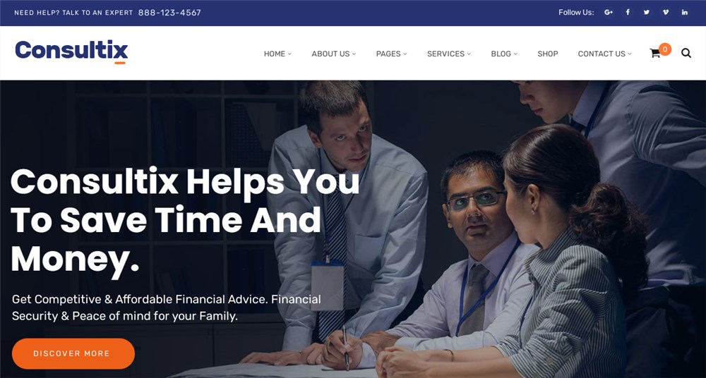 Lawyer Consultix Theme for WordPress