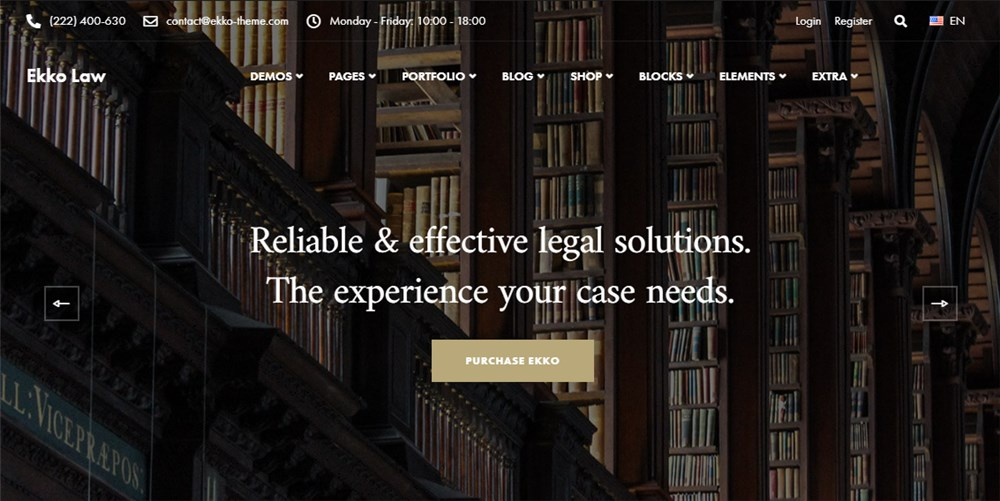 WP Lawyer Theme Ekko