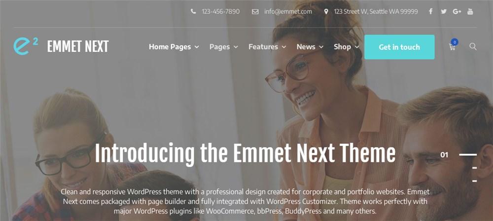 WordPress Theme Emmet Next for Lawyers